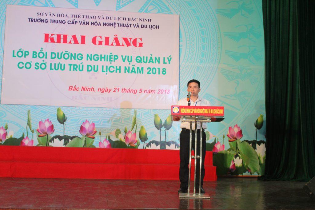 Khai giảng Lớp bồi dưỡng Nghiệp vụ quản lý Cơ sở lưu trú du lịch năm 2018 tại Bắc Ninh IMG 2953
