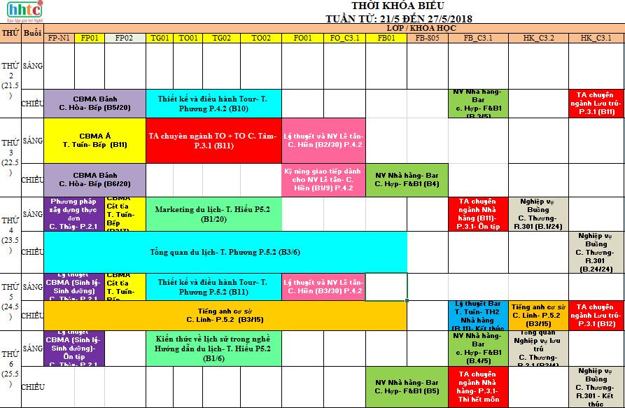 Thời khóa biêu Tuần 21 (Từ 21 đến 27/5/2018) TKB T21 1