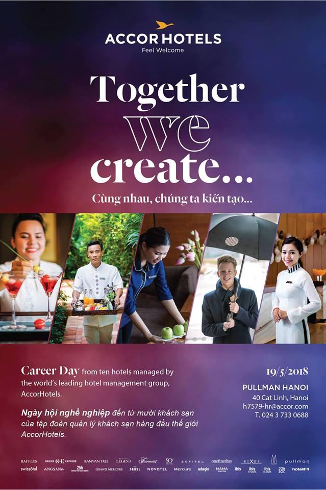 """Ngày hội Tuyển dụng """"Career day"""" của tập đoàn Accor tại Pullman Hà Nội career day"""