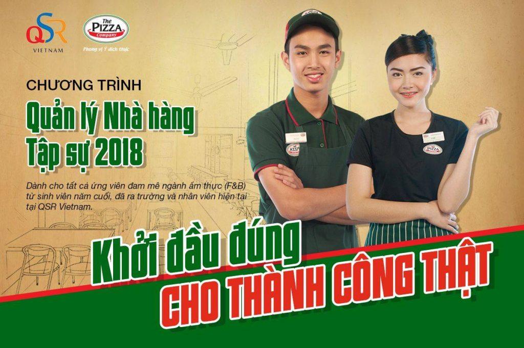 Tuyển dụng quản lý nhà hàng tập sự tại QSR Việt Nam tuyen dung