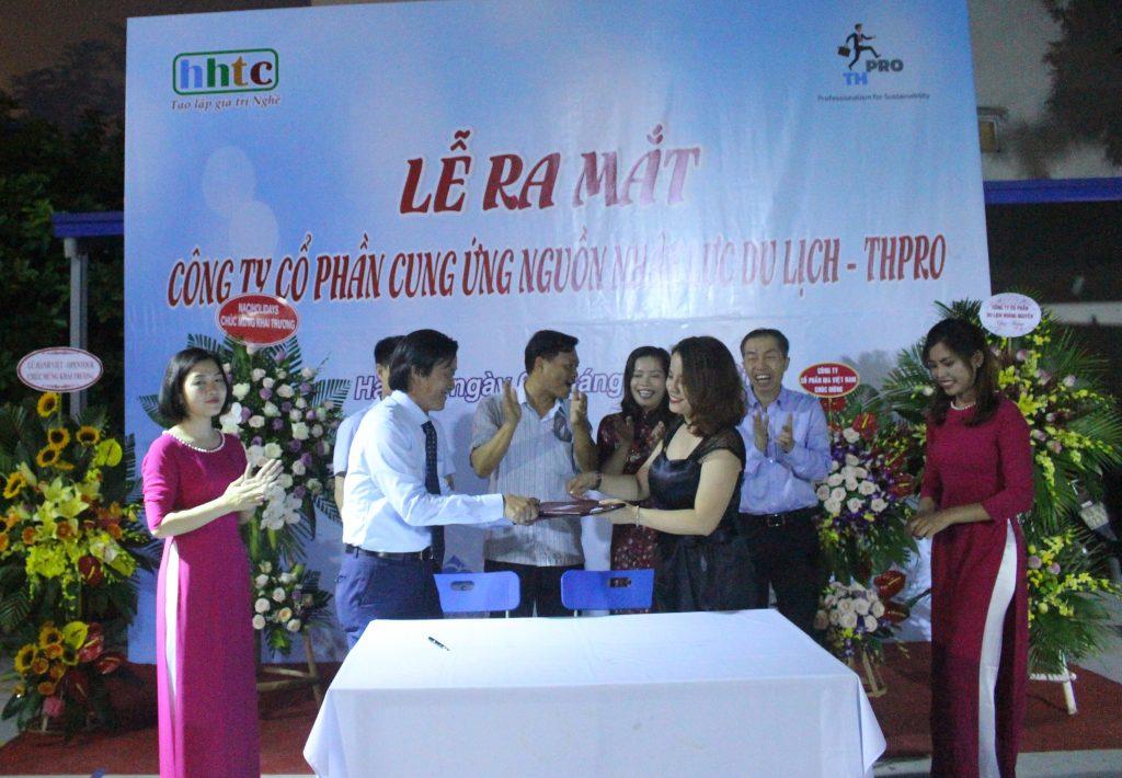 Lễ ra mắt Công ty Cung ứng nguồn nhân lực Du lịch chất lượng cao (THPRO) Lễ kí kết giữa THpro và Mindset Power