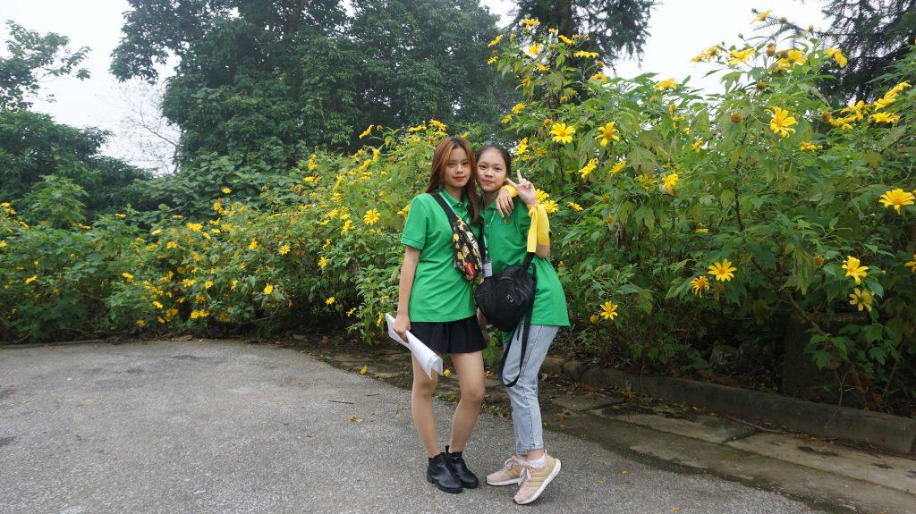 Ngắm hoa Dã Quỳ nở rộ cùng học sinh Trường Trung cấp Du lịch Hà Nội DSC09706