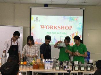 Thưởng thức vị trà sữa chuẩn vị Đài Loan cùng học viên HHTC