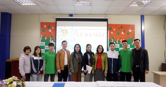 Lễ Ra Mắt Đoàn Trường Trung cấp nghề Du lịch Hà Nội