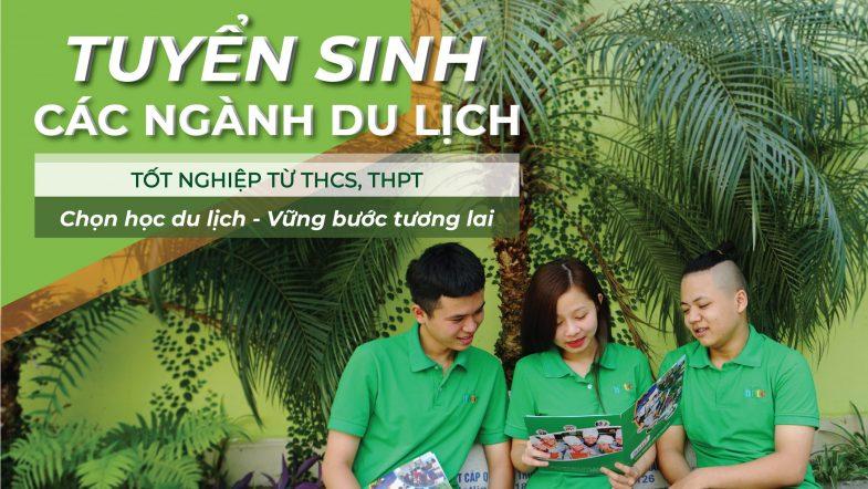 Thông báo tuyển sinh hệ sơ cấp và trung cấp năm học 2021 Anh Tuyen sinh Truong Trung cap Du lich Ha Noi scaled