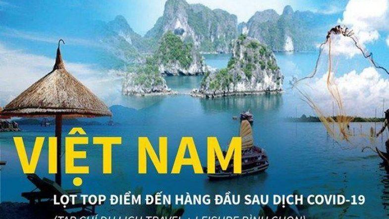 Infographics: Hậu Covid-19, Việt Nam lọt top điểm đến hàng đầu theo bình chọn của tạp chí Mỹ du lich viet nam hau covid hhtc ava