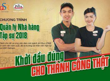 Tuyển dụng quản lý nhà hàng tập sự tại QSR Việt Nam